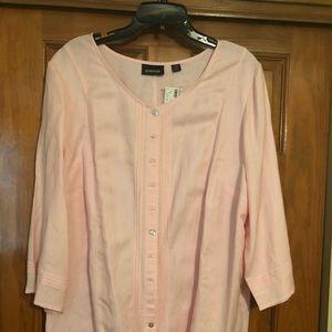 Ladies plus size linen top
